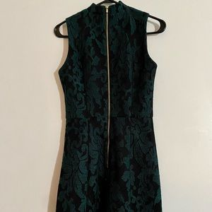 H&M Green Lace Embroidered A-Line dress